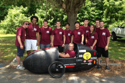 MSU's Human Powered Vehicle Challenge team