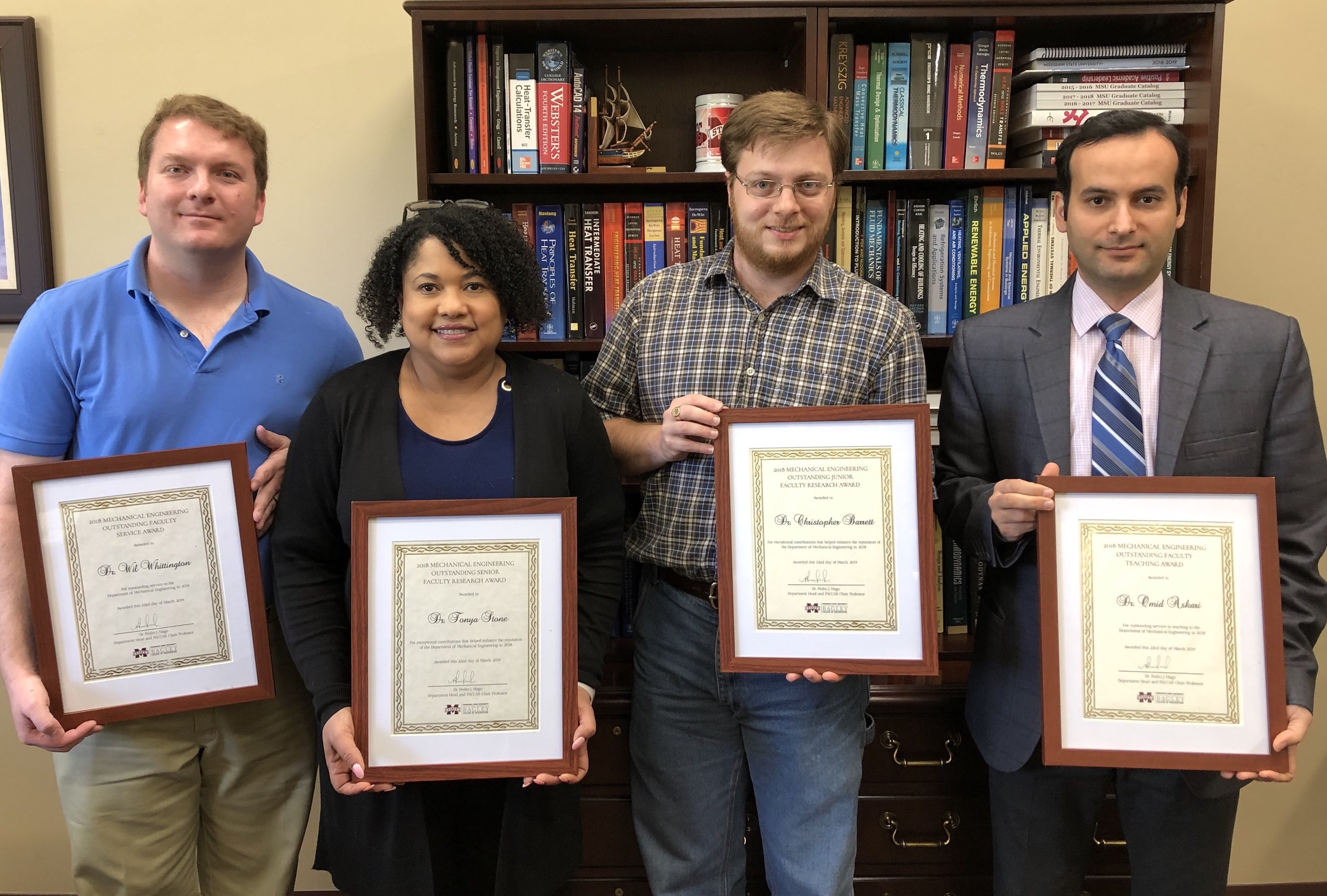 2018 Mechanical Engineering Faculty Awards Recipients