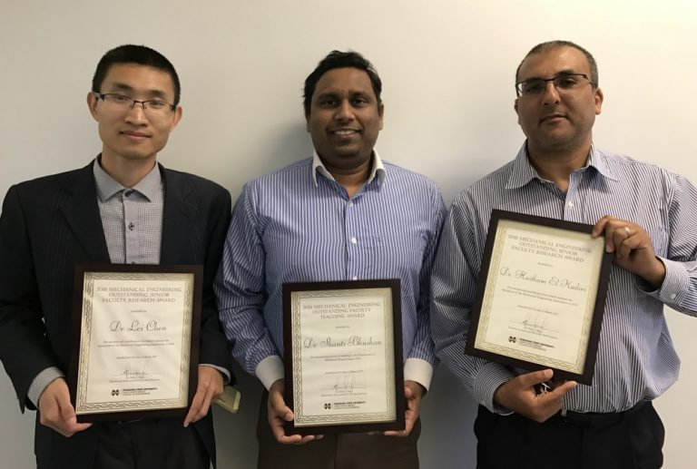 2016 Mechanical Engineering Faculty Awards Recipients